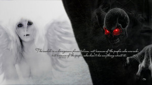 Evil Quotes Good and evil by marzzel
