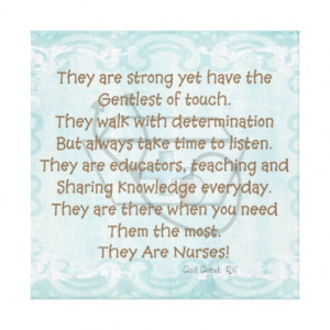 Canvas Nurse Poem Wall Art