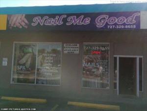 Nail salon funny