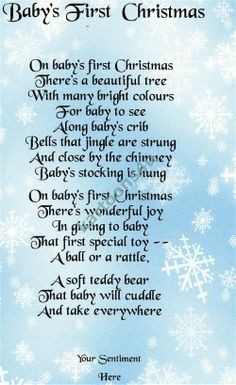 Baby's First Christmas Poem