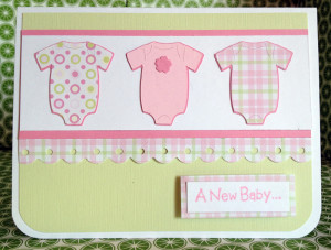 New Baby Cards - Cricut New Arrival Cartridge