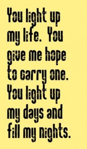 You Light Up My Life - song lyrics