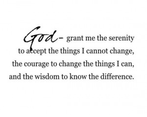 ... serenity vinyl wall decal lettering quote prayer poem 22H X 36W QT0076