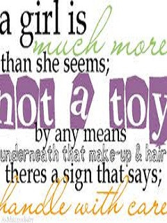 Girl Quotes Wallpaper 240x320 attitude, girl, quotes, sayings,