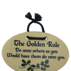 Inspirational Wall Plaques Golden Rule Quote Usa