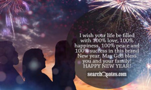 ... brand New year. May God bless you and your family! Happy New Year
