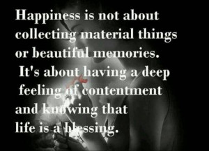 Happiness Quotes collecting beautiful memories blessing