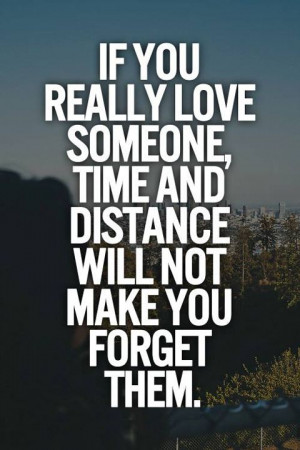 If you really love someone..