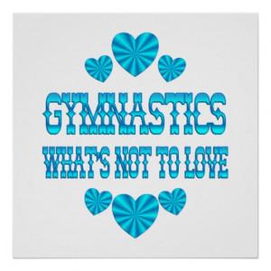 Gymnastics Sayings And Quotes Gymnastics love posters