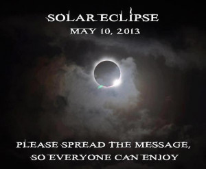 Solar Eclipse On May 10th for Northern Australia...