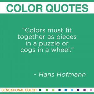 Color Quotes By Hans Hofmann