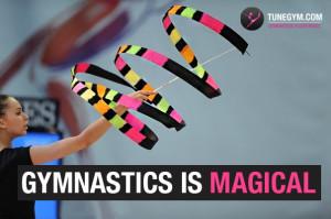 gymnastics motivational quotes: gymnastics is magical