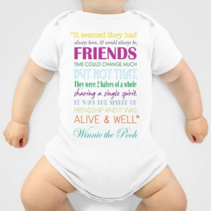 ... the Pooh Friendship Quote - Bright Colors Onesie by Jaydot Creative