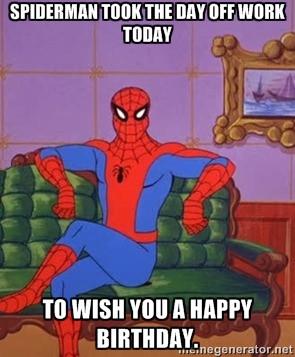 Happy Birthday Spider Man Meme