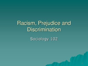 Racism Prejudice and Discrimination by MikeJenny