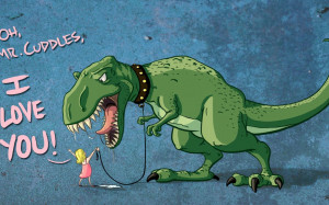 dinosaurs, children, funny, Tyrannosaurus Rex