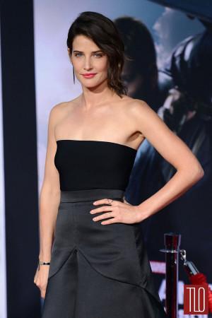 Cobie Smulders Captain America Premiere