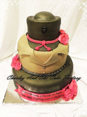 Marine Corps Women . Military cake. by Charley And The Cake Factory ...
