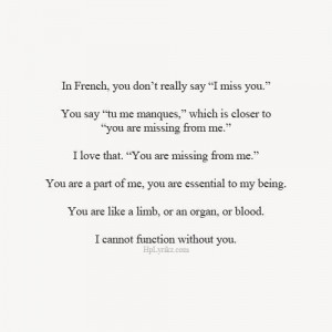 love quote words i miss you french