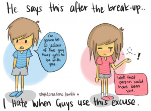 boy, cartoon, cute, funny, girl, heartbreak, typography