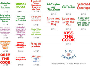 Kitchen Sayings - A PJ Project