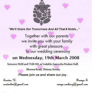 tamil wedding invitation wordings | Wedding :) | Pinterest