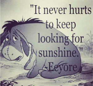 Eeyore gives the best advise