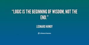 Logic Quotes Quote...
