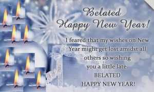 Belated New Year 2015 Quotes Sayings Greetings Images Pictures