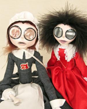 Hester Prynne & Her Little Pearl, Plus A Little Vampire In Progress