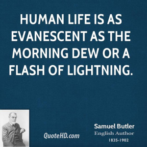 ... life is as evanescent as the morning dew or a flash of lightning