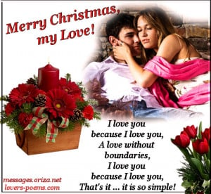 Love Christmas Message for Lovers