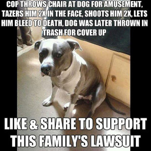 Message Asks Users to Support Lawsuit About Dog Shot By Police