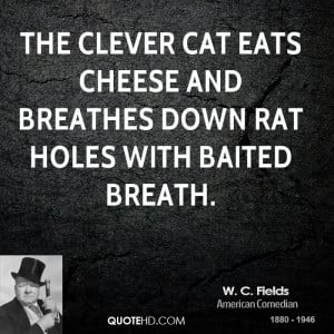 ... clever cat eats cheese and breathes down rat holes with baited breath