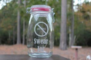 Mason Jar Bank, No Bad Words Swear Jar, Personalized, Engraved ...