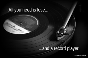 All you need is love... - Vinyl Quote