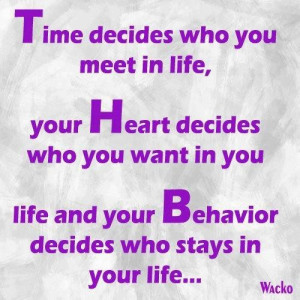 Time decides who you meet in life image quotes and sayings
