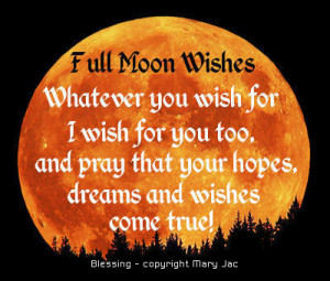 moon full moon wishing full moon wishing