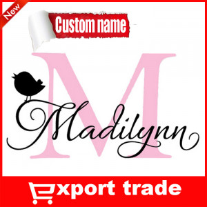 ... Name bird wall decals quotes kids room decoration cute names for