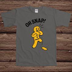 Oh Snap Gingerbread Man Funny Holiday Gift Xmas Merry Christmas Santa ...