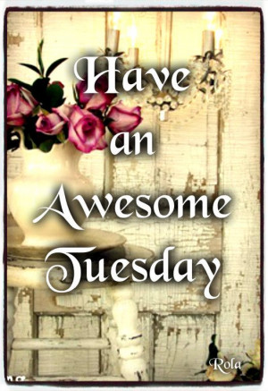Tuesday morning ♥