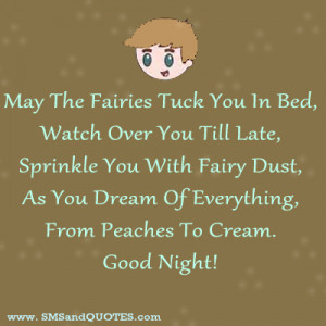 May The Fairies Tuck You In Bed,