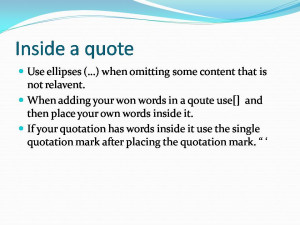 MLA Formatting, Citation and Integrating quotation
