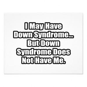 Down Syndrome Quote Announcement
