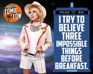 """... before breakfast."""" – The Fifth Doctor ('The Five Doctors"""