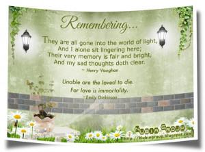 Remembering Loved Ones Quotes