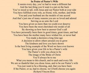 Pastors Wife Appreciation Quotes