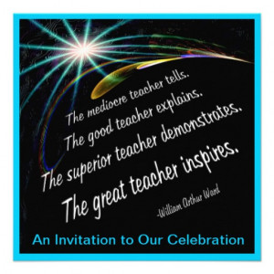 ... graduate features an inspirational quote about inspirational teachers