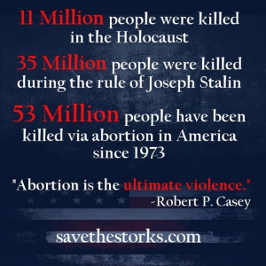 Abortion is the ultimate violence.