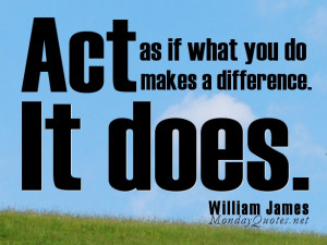 Positive Attitude Quotes for Monday- Act as if what you do makes a ...